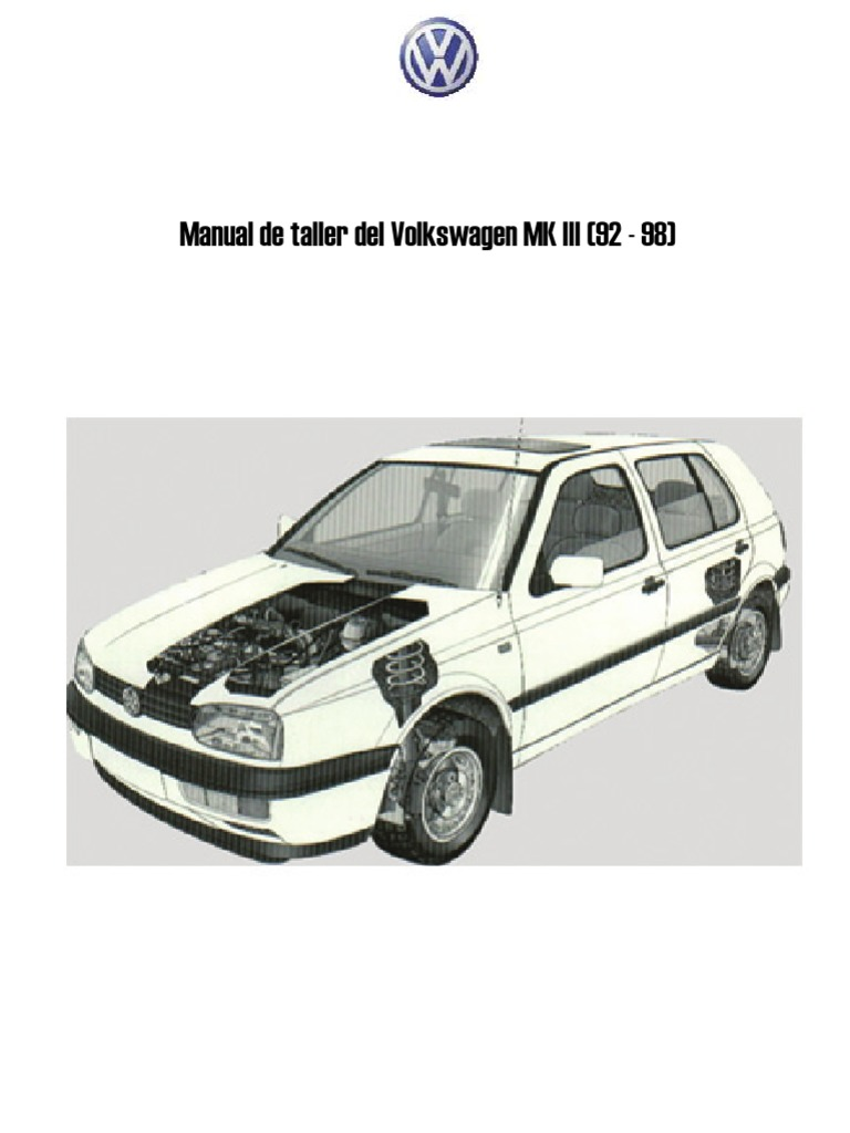 Manual de taller vw golf mk iii sciox Image collections