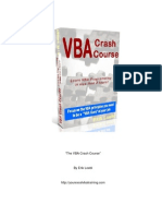 Vba Crash Course