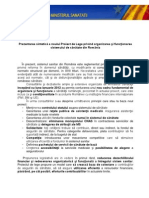 (www.reformasanatate.ro) Ministerul Sanatatii - Prezentarea Sintetica a Noii Legi a Sanatatii
