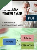PENGENALAN PROFESI ANALIS