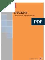 INFORME PATOLOGIAS CUBIERTA