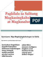 Filipino 6 -Aralin 6Pagkilala Sa Salitang Magkasingkahulugan at Magkasalungat