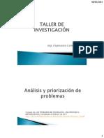TALLER DE INVESTIGACIÓN FORMULACIÓN DEL PROBLEMA
