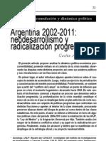 Varesi, Gastón (2011) Argentina 2002-2011