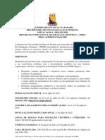 01 -EDITAL PIBIC 2012-2013 - UEPB