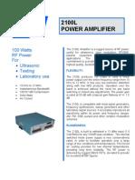 2100L Power Amplifier
