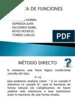 LÓGICA DE FUNCIONES