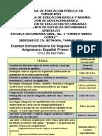 Guia de Estudio Extraordinario 1ro Español Secundaria 2012