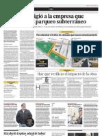 El Comercio - Estacionamiento subterráneo en Miraflores
