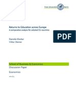 Returns To Education Across Europe A Comparative Analysis For Selected EU Contries