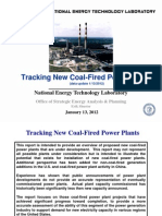 NETL Coal Fired Plant Tracker