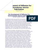 Development of Diffusion for Semiconductor Device Fabrication