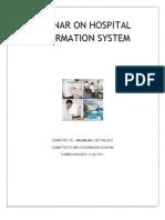 Seminar on Hospital Information System
