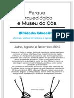 Atividades Educativas Museu do Côa - Julho a Setembro 2012