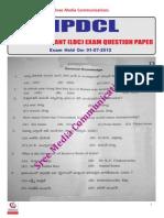 Npdcl Junior Asst Question Paper