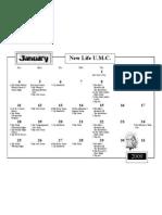 Calendar, January 2009
