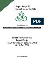 Dody Firmanda 2012 - Pleno Pra Raker II RSUP Fatmawati Draft Sasaran 3 Juli 2012