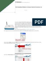 How to Configure WA3002G4 UTStar BSNL Broadband Modem to Enable Wi-Fi