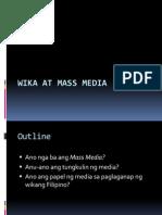 Wika at Mass Media