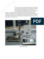 Surface Roughness Test