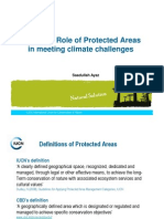 IUCN and Role of Protected Areas in Meeting Climate Challenge- Saadullah Ayaz