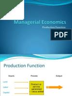 Production Fnction