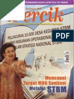 Mencapai Target MDGs Sanitasi melalui Sanitasi total Berbasis Masyarakat (STBM). Media Informasi Air Minum dan Penyehatan Lingkungan PERCIK Edisi Desember 2008. Tema Mencapai Target MDG Sanitasi melalui STBM