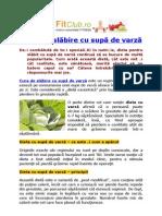 Dieta de slăbire cu supă de varză | FitClub.ro