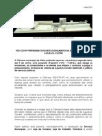 Comunicado do PS de Agualva-Cacém sobre a intenção da Câmara de concessionar à EMES o estacionamento da Parcela M dos terrenos da Cacém Polis