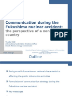 Tafili - Communication during theFukushima nuclear accident