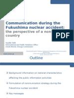 Tafili - Communication during theFukushima nuclear accident
