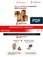 Executive Summary of the Study on biometric technologies applied to security