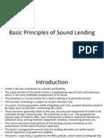 Basic Principles of Sound Lending
