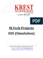 M.tech EEE Projects List 2011-12