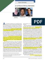 Advances in Passive Optical Networks