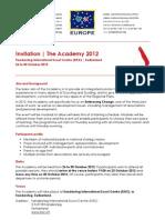 Academy 2012 Invitation EN