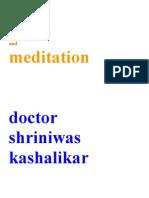 Stress and Meditation Dr Shriniwas Kashalikar (1) (1)