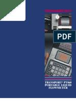 PT868 Portable Liquid Flow Measurement