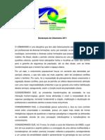 Declaração de Urbanismo 2011