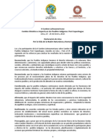 Declaración de Lima Por la Vida de la Madre Naturaleza y Humana