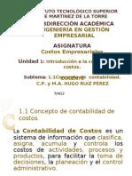 1.1 Concepto de Contabilidad de Costos
