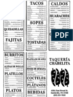 Chabelita Brochure