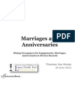 Genealogy Research Marriage Anniversary Records