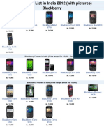 Mobile Price List in India 2012