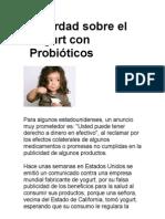 La Verdad sobre el Yogurt con Probióticos