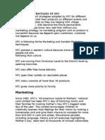 Marketing Strategies of Kfc