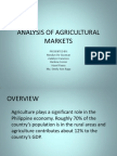 Analysis of Agricultural Markets