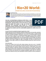 Rio+20 Analysis Article by Uchita de Zoysa (MEDIA RELEASE)