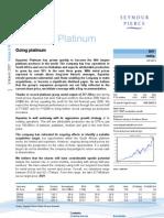 Broker Note, Aquarius Platinum, 08/03/2007 (Seymour Pierce)