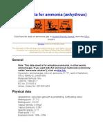 Primer MSDS Safety Data for Ammonia